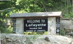 Welcome to Lafayette sign